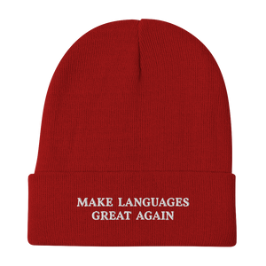 Make Languages Great Again Beanie