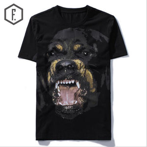 Men T-Shirts Rottweiler Print