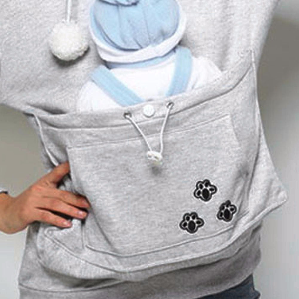 Kangaroo Pet Dog Holder Tank Hoodies Top for Women