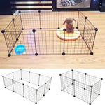 Foldable 6/10 Panels Pet Dogs Playpen Fence
