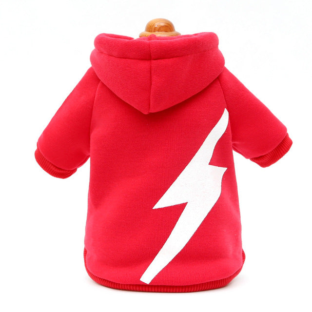 Cool Flash Lightning print pet dog hoodie coat