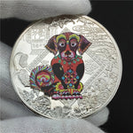 Year of the Dog Plated Lucky Gold Coin