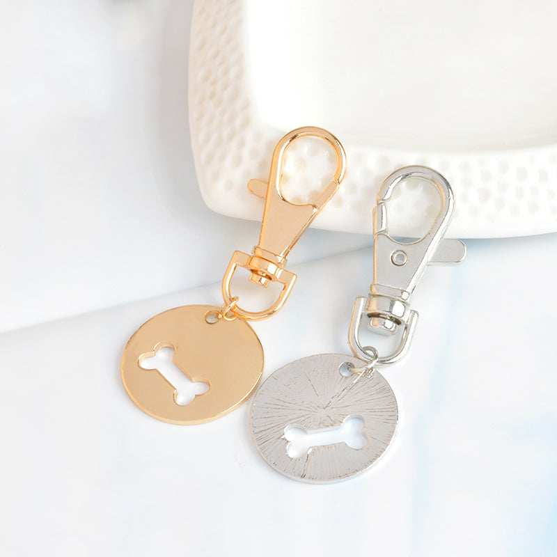 Dog bone necklace & key chain set