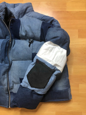Denim Puffer Jacket