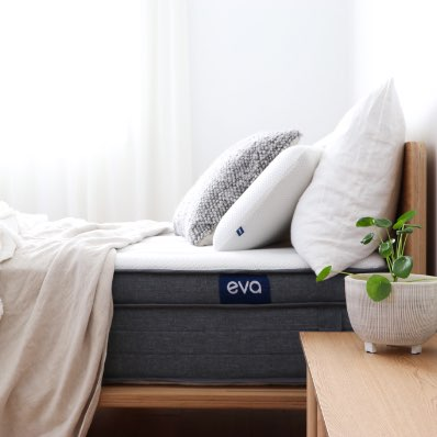 Eva Mattress and Eva Pillow styled in minimal style bedroom