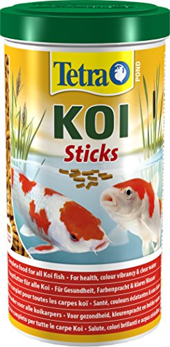 Tetra Pond Koi Fish Food Sticks, Complete Food for All Koi Fish, 1 Litre