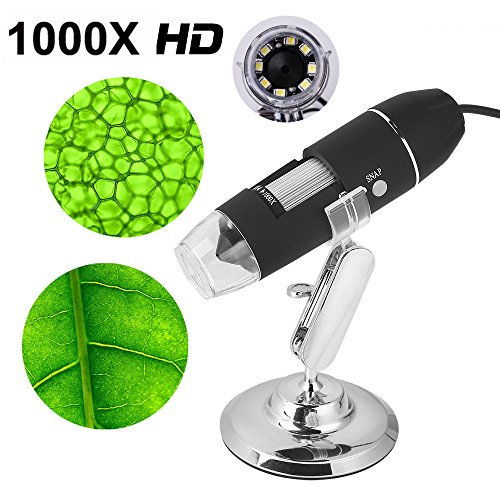 1000X USB Digital Microscope Endoscope Magnifier PC Video Camera 8 LED with Stand