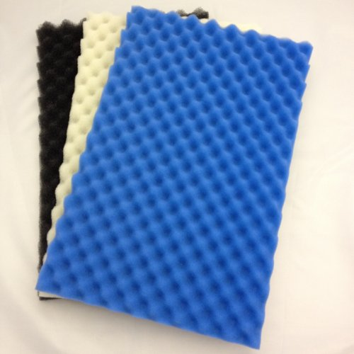 "Pond Foam Filter Media Pack (Set of 3) 42"" x 21"" Coarse, Medium and Fine."