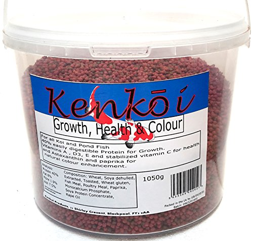 Kenkoi Pond Fish Food Growth Health and Colour 1.05 KG … (Small Pellet)