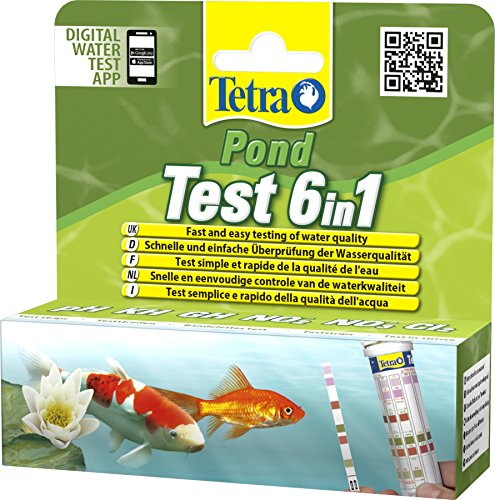 Tetra Pond Test 6-in-1 Strip to Test 6 Essential Water Quality Parameters in Less Than 60 Seconds