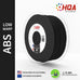 HQA ABS (Low Warp) 3D Printer Filament, Black, 1.75MM, 1KG Spool
