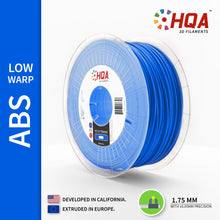 HQA ABS (Low Warp) 3D Printer Filament, Blue, 1.75MM, 1KG Spool