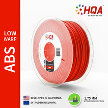 HQA ABS (Low Warp) 3D Printer Filament, Red, 1.75MM, 1KG Spool