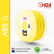 ***PARTIAL SPOOL EXTRA*** HQA ABS (Low Warp), Yellow, 1.75MM