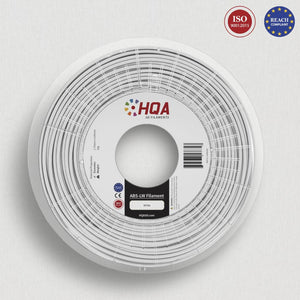 HQA ABS (Low Warp) 3D Printer Filament, White, 1.75MM, 1KG Spool