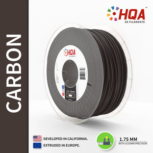 HQA Carbon Fiber PETG 3D Printer Filament, Carbon Fiber, 1.75MM, 1KG Spool