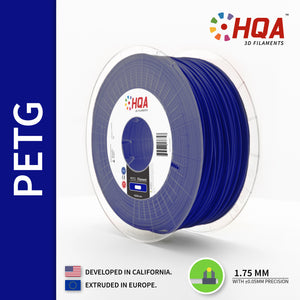 HQA PETG 3D Printer Filament, Blue, 1.75MM, 1KG Spool