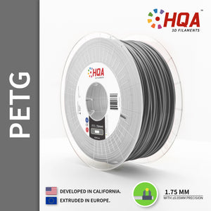 HQA PETG 3D Printer Filament, Silver, 1.75MM, 1KG Spool