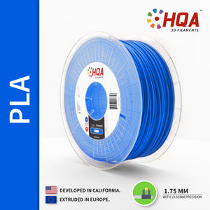 HQA PLA+ 3D Printer Filament, Blue, 1.75MM, 1KG Spool, [NatureWorks 4043D]