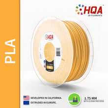 HQA PLA+ 3D Printer Filament, Gold, 1.75MM, 1KG Spool, [NatureWorks 4043D]
