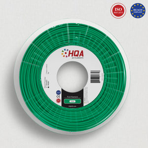HQA PLA+ 3D Printer Filament, Green, 1.75MM, 1KG Spool, [NatureWorks 4043D]