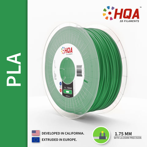 ***PARTIAL SPOOL EXTRA*** HQA PLA+, Green, 1.75MM