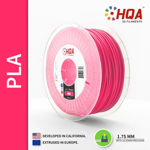 HQA PLA+ 3D Printer Filament, Pink, 1.75MM, 1KG Spool, [NatureWorks 4043D]