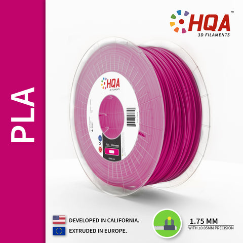 HQA PLA+ 3D Printer Filament, Purple, 1.75MM, 1KG Spool, [NatureWorks 4043D]