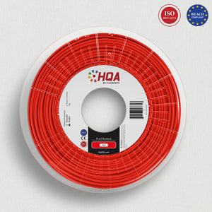 HQA PLA+ 3D Printer Filament, Red, 1.75MM, 1KG Spool, [NatureWorks 4043D]