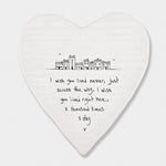 Porcelain Wobbly Heart Coaster