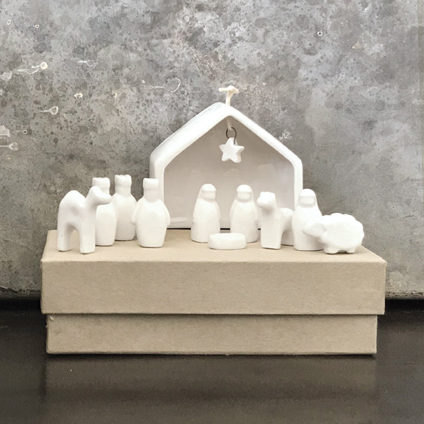 Porcelain Nativity Set