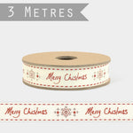 Message Christmas ribbon