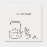 Square porcelain coasters