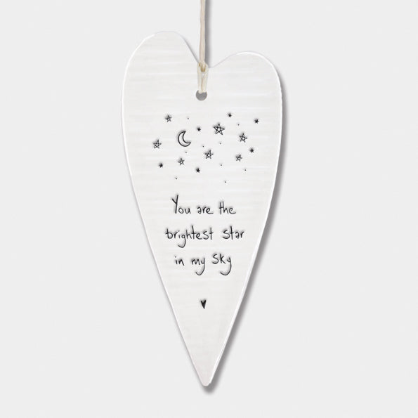 Porcelain Long Hanging Hearts