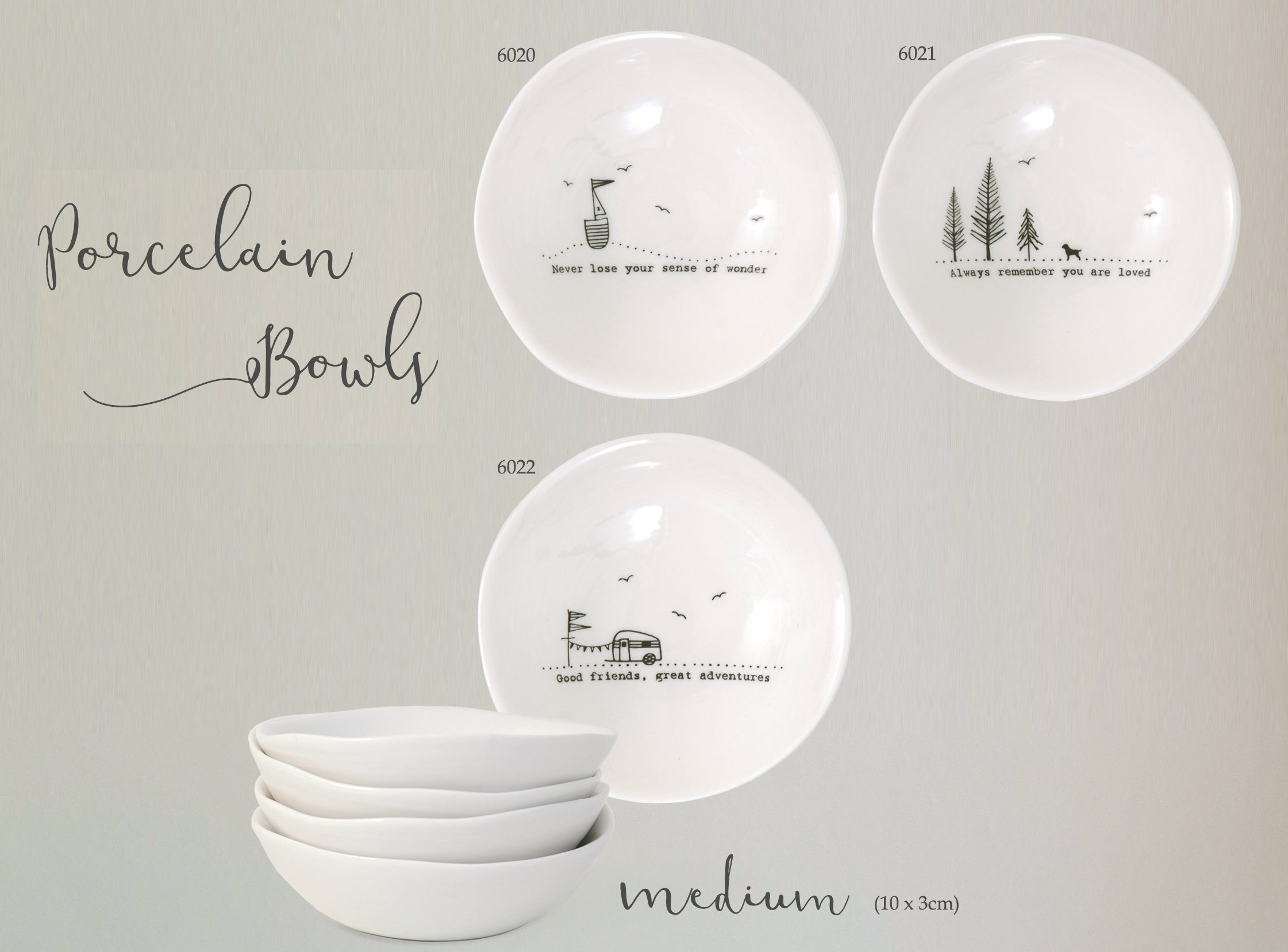 Wobbly porcelain bowls medium - Heaven in Earth
