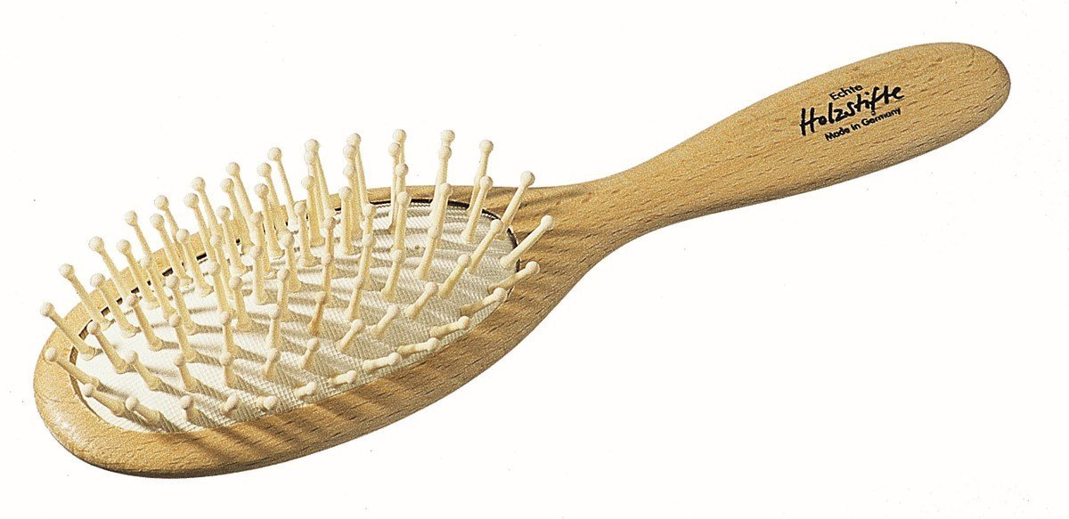 Oval beechwood Hair Brush - wood pins - Heaven in Earth