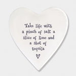 Porcelain Heart Shaped Coasters