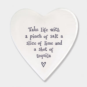 Porcelain Heart Shaped Coasters - Heaven in Earth