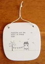 Porcelain square hanging plaque - Heaven in Earth
