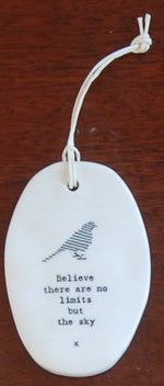 Oval Porcelain Hanger - Heaven in Earth