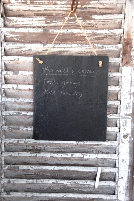 Slate Memo Board - large - Heaven in Earth
