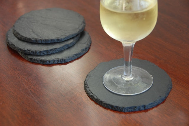 Slate Coaster Round set - Heaven in Earth