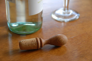 Wine Stopper - natural cork and oak - Heaven in Earth