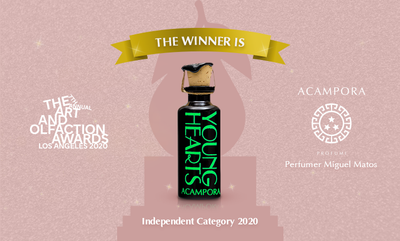 "Young Hearts di Acampora Profumi ha vinto il premio ''The Art and Olfaction Awards 2020""."