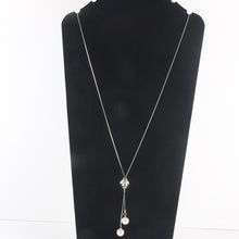 Long Tassel Necklace Y Shaped Adjustable Knot Chain Pendant for Women