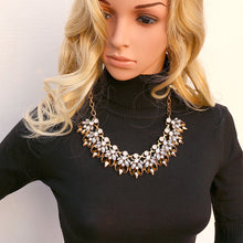 Hot Sales Maxi Statement Collar Necklaces Luxury Crystal Rhinestones Pendants Necklaces With Earing