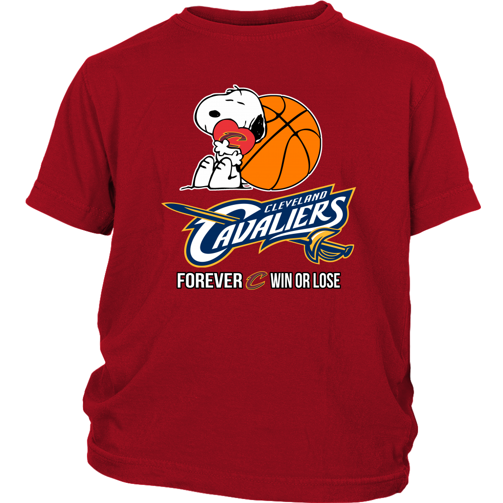 a890527b09f7 NBA – Cleveland Cavaliers Forever Win Or Lose Basketball Snoopy Shirts -  Tee4sport