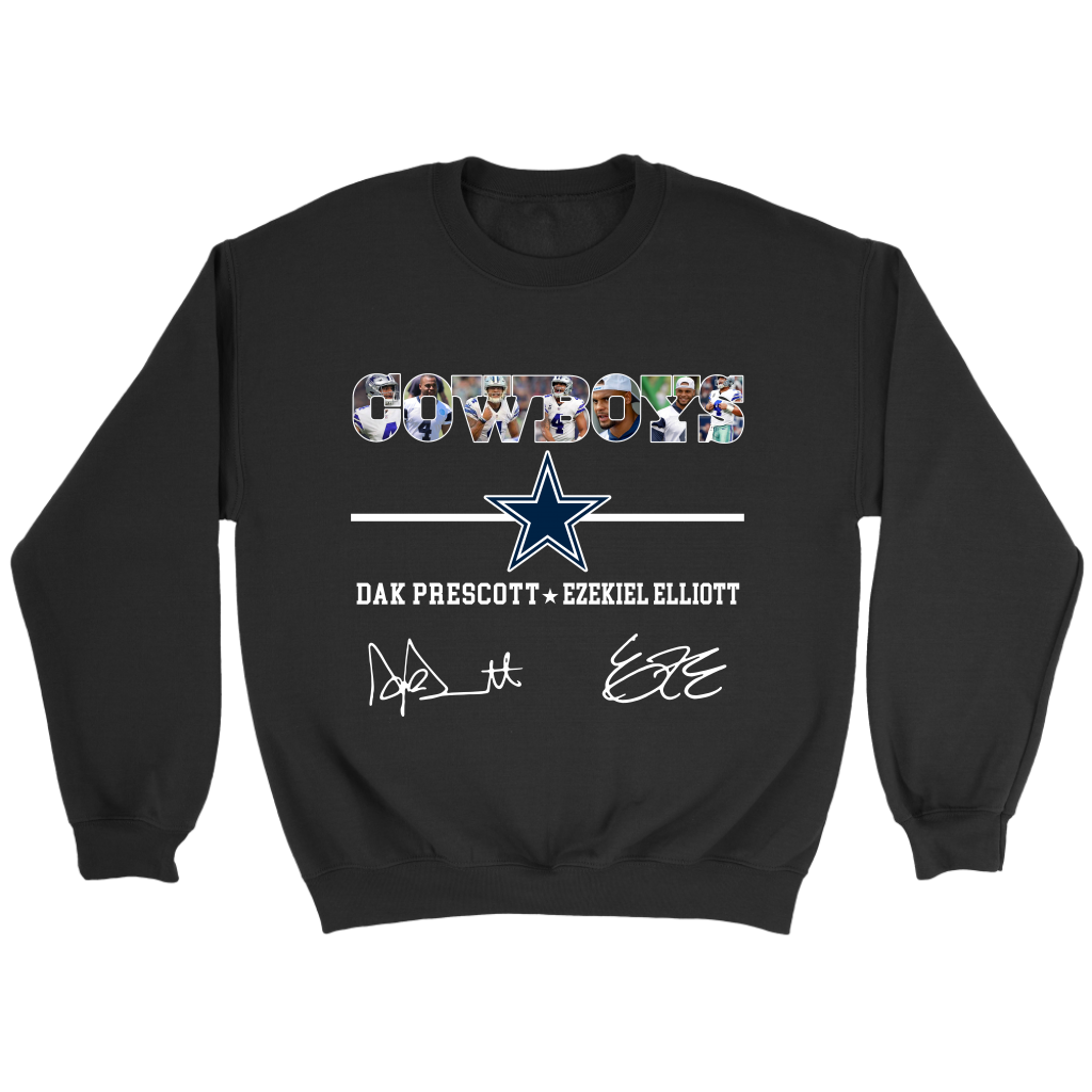52c321ad5a5ea NFL - Dallas Cowboys Dak Prescott Ezekiel Elliott Football Sweatshirt-T- shirt-Crewneck