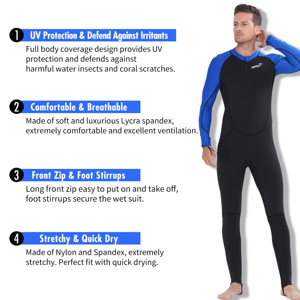 1c05e75cb8 Copozz Full Body Scuba Diving Wetsuit Men Women Snorkeling Swimming Suits  For Surfing Spearfishing