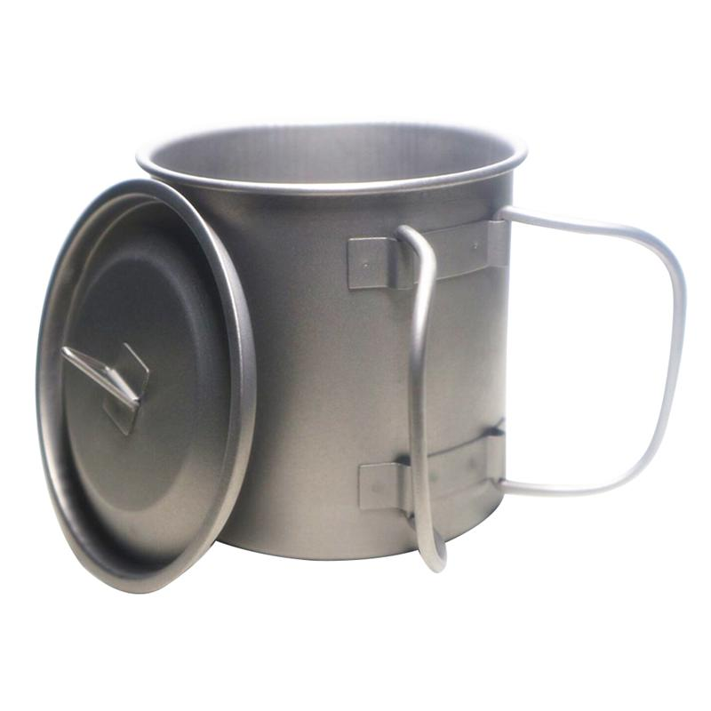 9dbd7abe214 400ml Titanium Camping Water Cup Outdoor Hiking Mountain Climbing Mug with  Lid for Cooking Boiling